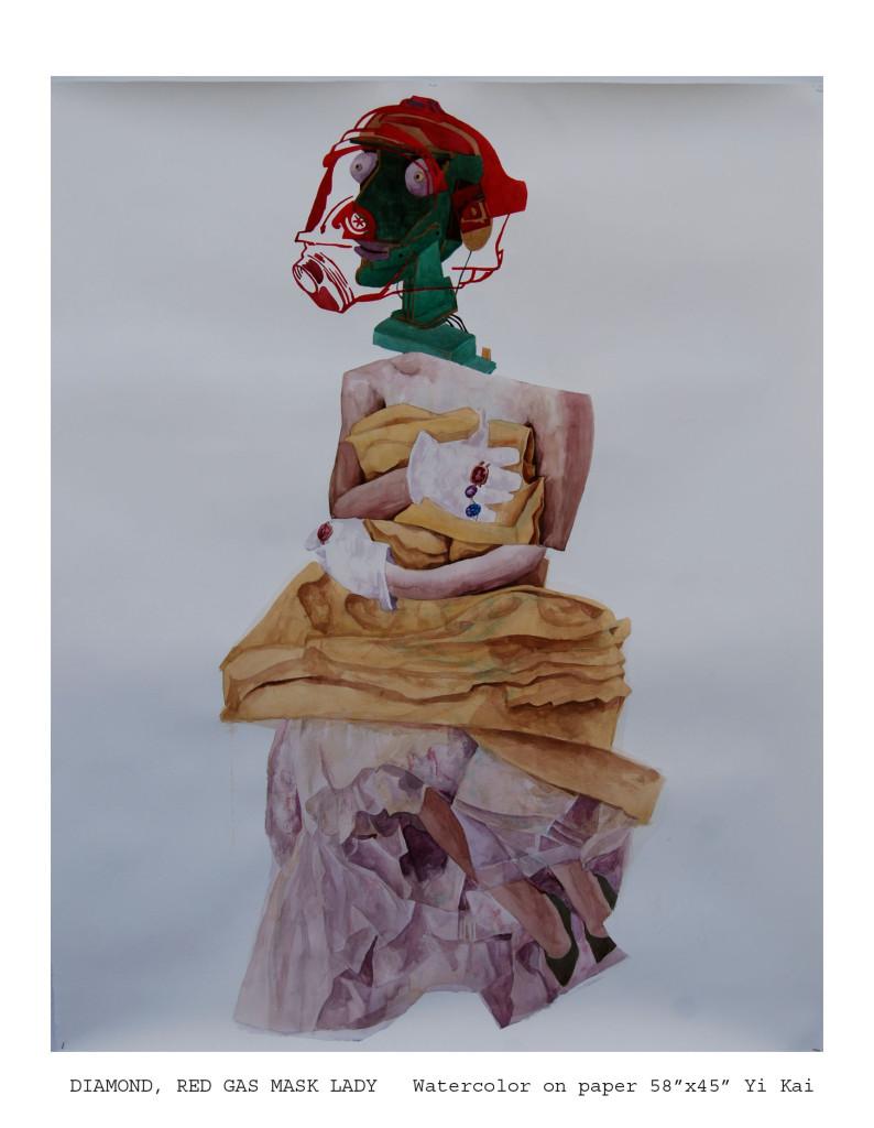 Damond, red gas mask lady