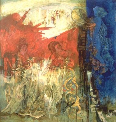 "Cross through Music | 54"" x 50"" | oil on canvas"